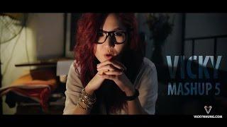 Video clip Vicky's Mashup 5 - Cơn mưa ngang qua - Lặng thầm một tình yêu - Set fire to the rain - Lặng thầm