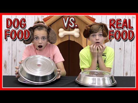 Thumbnail: DOG FOOD VS REAL FOOD CHALLENGE | We Are The Davises