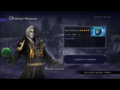 Warriors Orochi 3 Ultimate - Kanbei Kuroda Mystic Weapon Guide