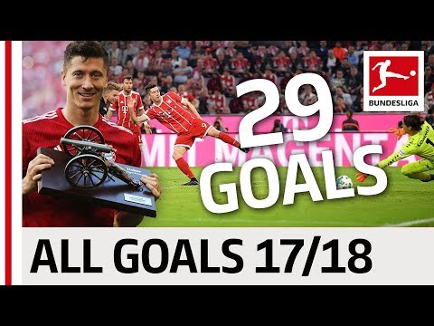 All Goals Robert Lewandowski In The 2017/18 Bundesliga Season