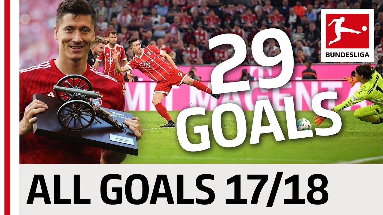 Download All Goals Robert Lewandowski In The 2017/18 Bundesliga Season