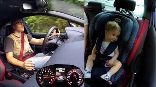 Прокатил свое дитё в Subaru WRX STI, запомнит на всю жизнь?