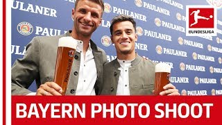 Coutinho, Perisic, Hernandez & Co. - Bayern Stars learn Bavarian at Paulaner Photo Shoot