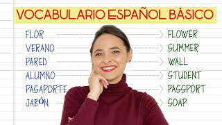 BASIC SPANISH VOCABULARY 🚀 Learn the Most USEFUL Spanish WORDS for BEGINNERS A1-A2 screenshot 2