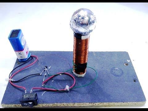 How to make mini tesla coil using 9V battery