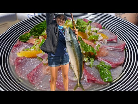 BEST WAY TO EAT YELLOWTAIL | She Caught The Biggest Fish