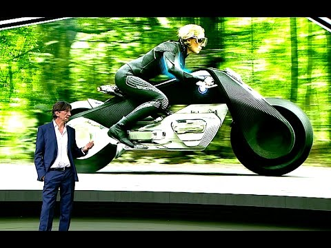 bmw self driving motorbike world premiere bmw vision 100 motorbike
