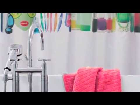 Colour Color Changing Miss Squidolette Shower Curtain