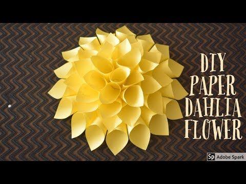 DIY | PAPER DAHLIA FLOWER | paper craft