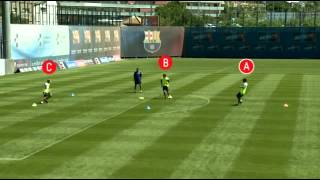 Drill 9 Triangule By FC Barcelona