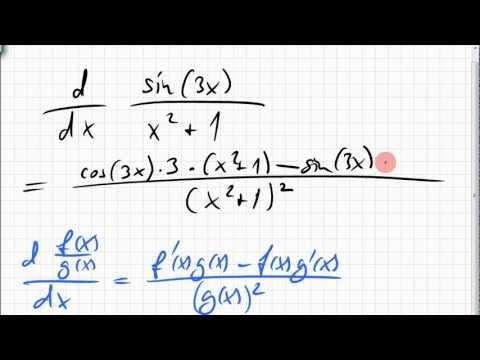 02B.2 Quotientenregel, Kettenregel angewendet - YouTube