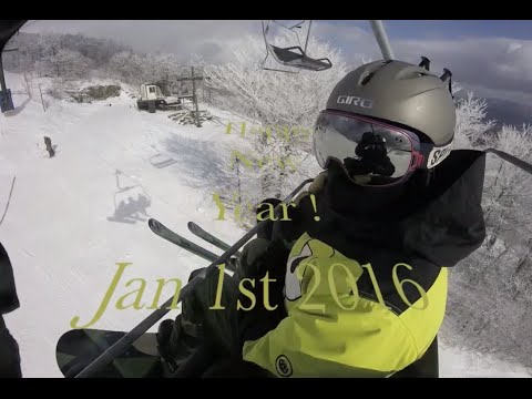 New Year's Day skiing/snowboarding at Bromley Mountain - Jan 1st 2016