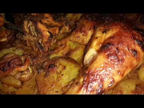 صينية دجاج بالبطاطس في الفرن بتتبيلة رائعة و لذيذة😋