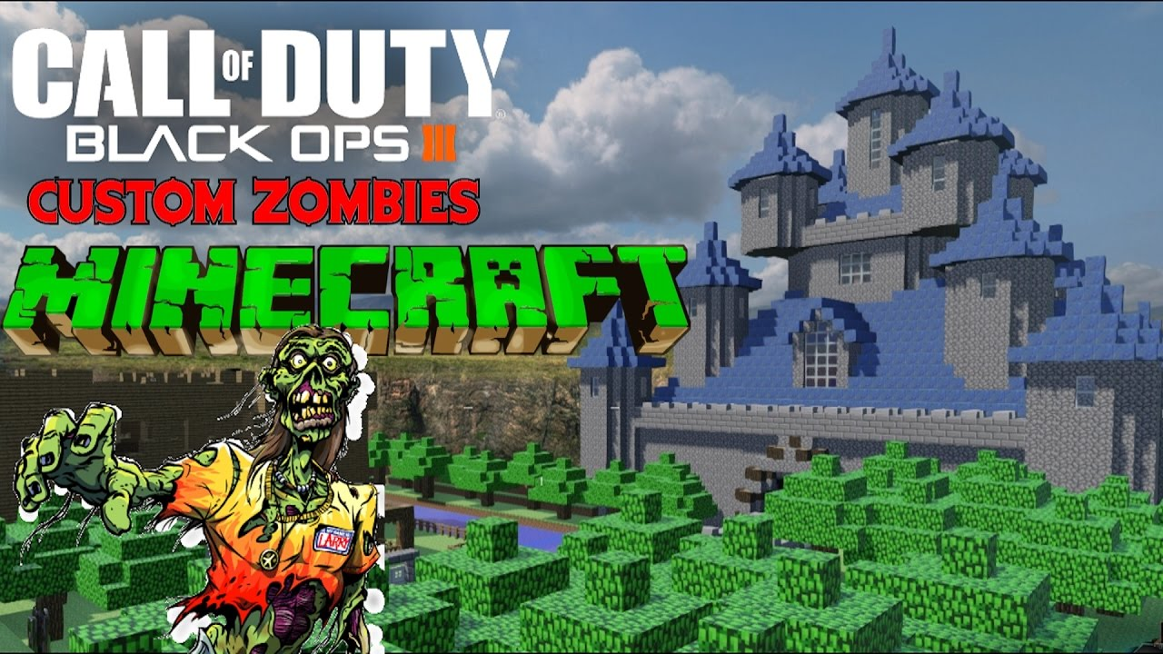 BEST MINECRAFT CUSTOM ZOMBIES MAP! - BLACK OPS 3 CUSTOM ZOMBIES ...