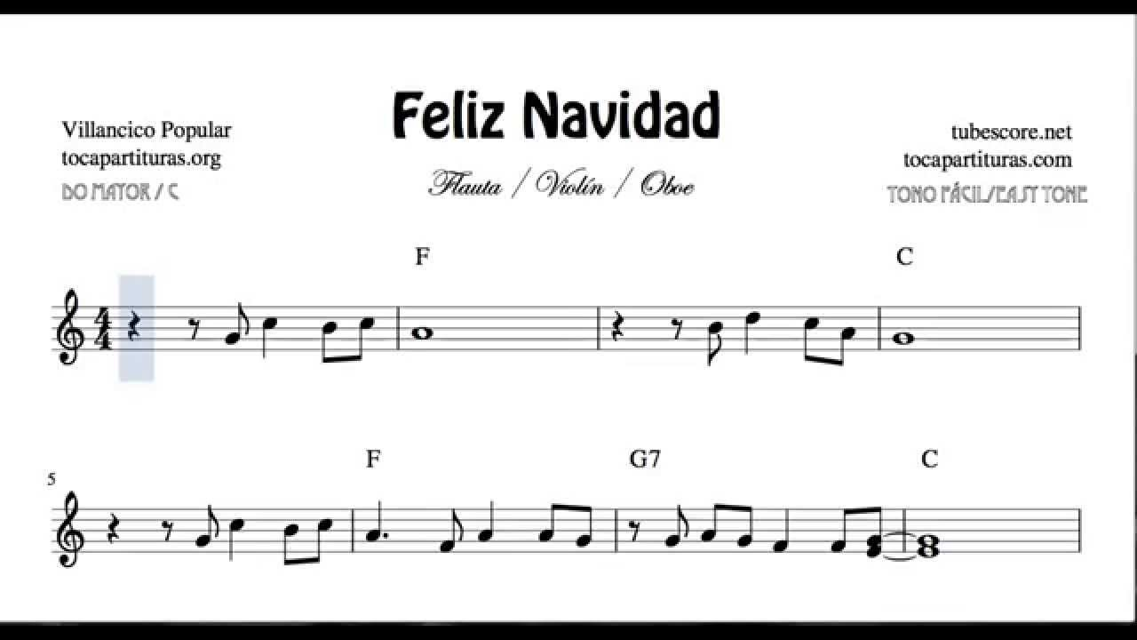 I Wanna Wish You a Merry Christmas Easy Sheet Music for Violin Flute ...