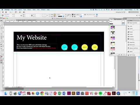 How to start making a web page in InDesign
