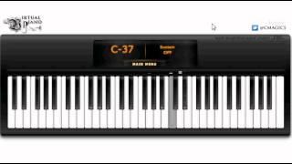 Eiffel 65 - I'm Blue Virtual Piano