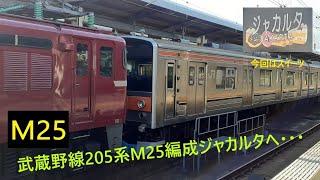 武蔵野線205系M25編成のジャカルタ配給を撮影してみた【オマケ付き】