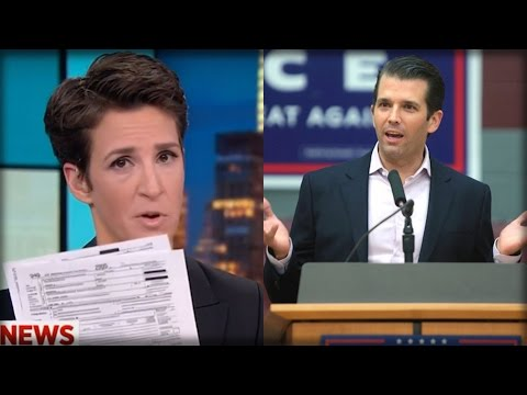 AFTER RELEASING TRUMP TAX RETURNS, DONALD JR SENT RACHEL MADDOW A MESSAGE SHE WILL NEVER FORGET!