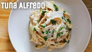 Tuna Alfredo Pasta | Creamy Tuna Pasta | Panlasang Pinoy