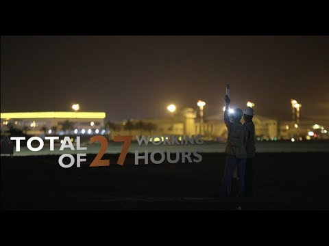 Bahrain International Airport Runway Maintenance Coverage Video