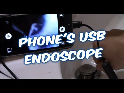 How To Use USB Android Phone ENDOSCOPE To Get Items Drop Down A Drain