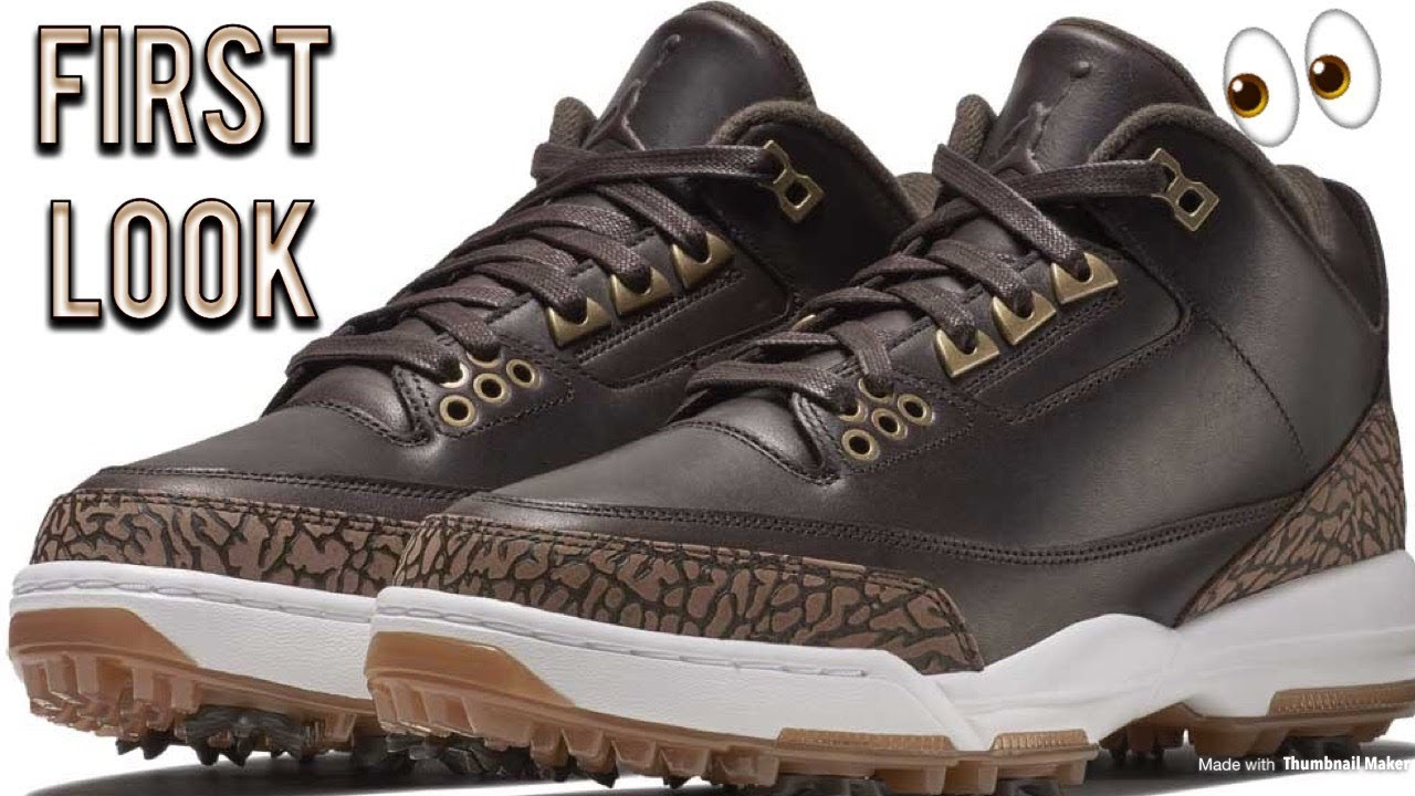 6b724a81a868 Nike Air Jordan 3 Golf Shoes