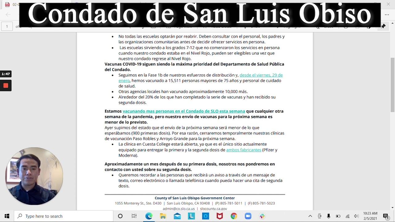 Actualizaciónes y mensajes claves para residentes del condado de San Luis Obispo, en Mixteco!