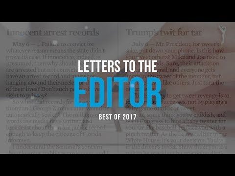 Letters to the Editor: the Best of 2017
