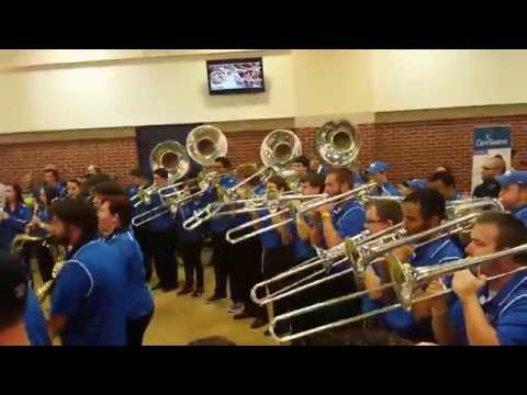 2015 University of Kentucky Wildcat Marching Band Pep Band Rupp Arena Pregame UK WMB