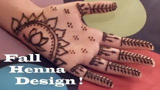 DIY Henna Design! Fall Henna (Mehndi) Design Tutorial ! | itznina!