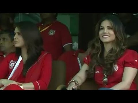 IPL 8: Sunny Leone CHEERS for Kings XI Punjab