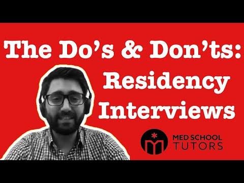 FB Live Q&A: Residency Interview Dos & Don'ts – Etiquette, Tough