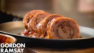 Slow Cooked Braised Stuffed Lamb Breast - Gordon Ramsay