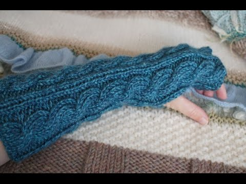 Quick and Easy Cabled Gauntlet Knitting Tutorial, C6F Cable Rib with Free Pat...