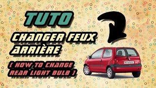 TUTO changer ampoule feux arrière Renault Twingo 1 (how to replace rear light bulb) HD