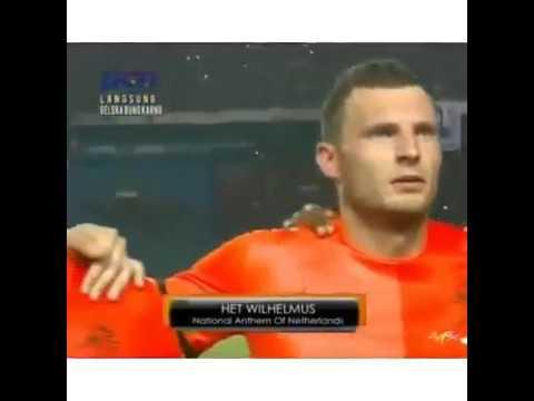 netherland & indonesia national anthem football friendly Match