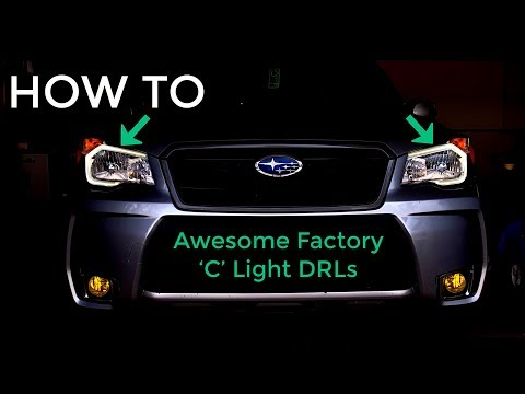 DIY INSTALL | SUBARU FORESTER | FACTORY C-LIGHT DRL