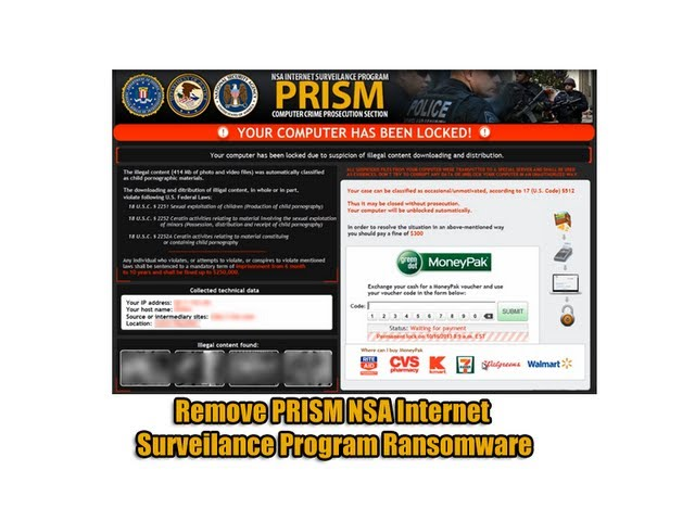 Remove PRISM NSA Internet Surveillance Program Ransomware