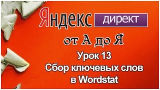 Яндекс Директ. Урок 13.Сбор ключевых слов в Вордстат Яндекс(Wordstat Yandex)