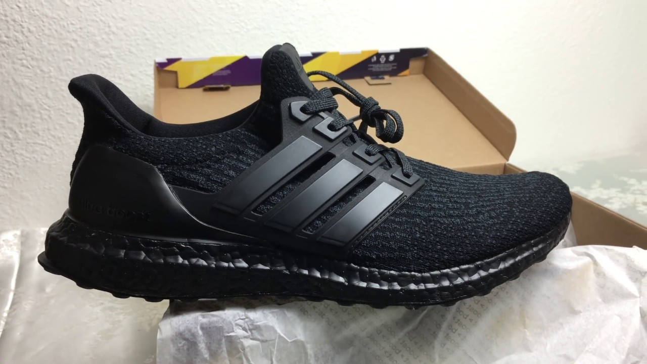 bc499cd73 adidas Ultra BOOST 3.0 Triple Black Unboxing - YouTube