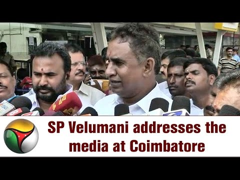 SP Velumani addresses the media at Coimbatore | ADMK's internal problems and farmers' issue