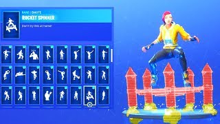 NEW! SHADE SKIN Showcased With 69 DANCE EMOTES! Fortnite Battle Royale