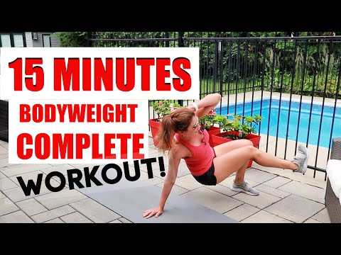 15 MINUTE BODYWEIGHT WORKOUT (INCLUDES WARMUP AND COOLDOWN)
