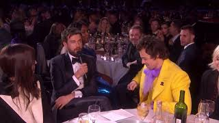 Jack Whitehall chatting with Harry Styles (Brit Awards 2020)