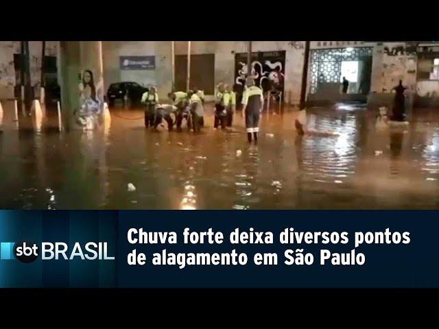 Chuva forte deixa diversos pontos de alagamento em São Paulo | SBT Brasil (05/03/19)