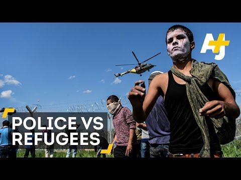 The Macedonian Police Versus Refugees