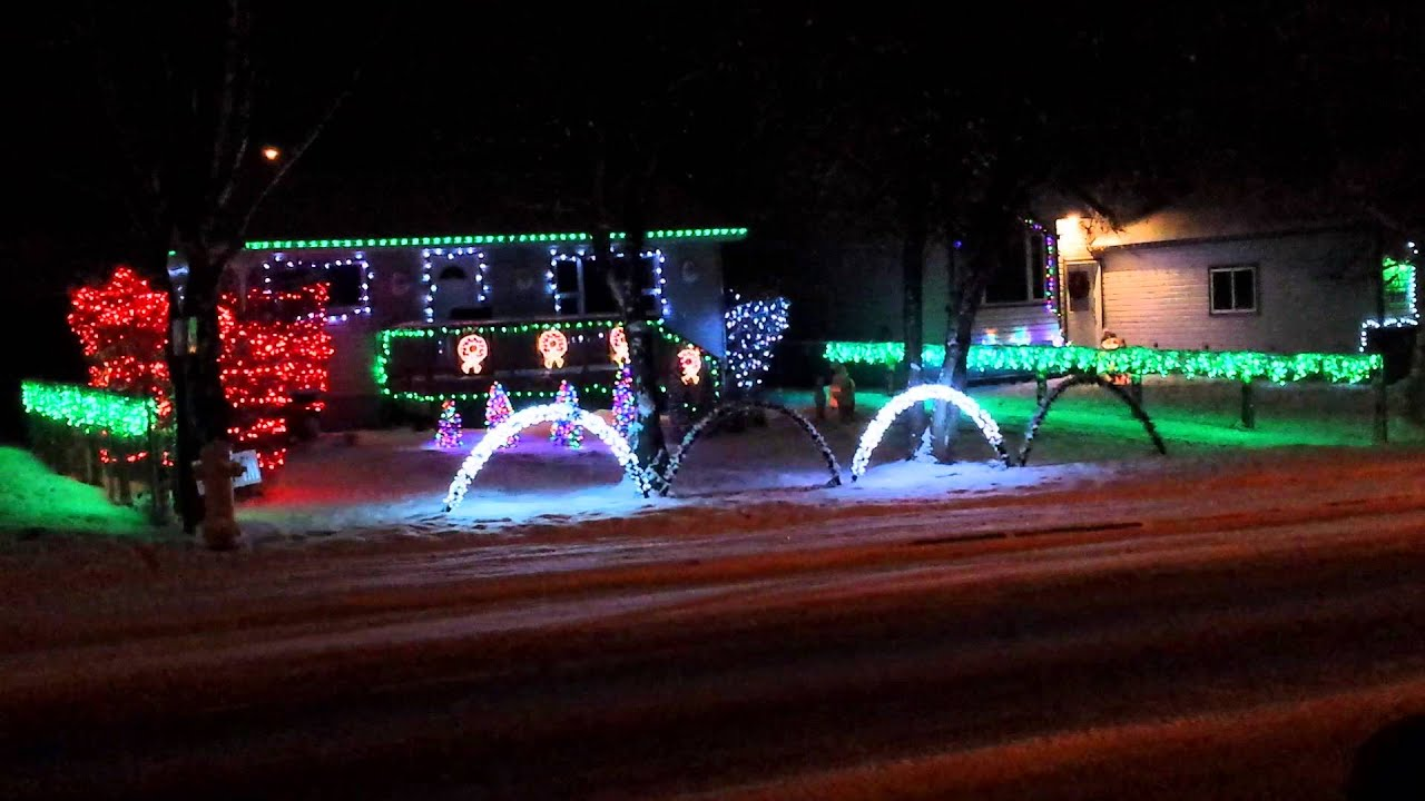 Christmas lights to music rocky mountain house alb youtube for Christmas house music