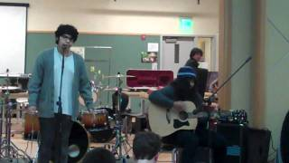 Playing God by Paramore Cover by AJ and Shawn at the Talent Show 2010