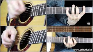 Би-2 - Полковник (Полный разбор) (Уроки игры на гитаре Guitarist.kz)